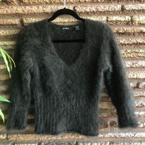 Express Vintage 90s Angora Rabbit Hair Sweater